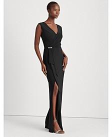 Ruffle-Trim Jersey Gown