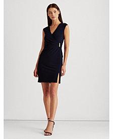 Lauren Ralph Lauren Petite Gold-Tone-Pin Jersey Dress