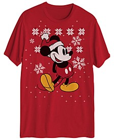Men's Mickey Mouse Snowflakes Graphic Tee