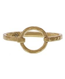 Gold-Tone Ring Hook Bracelet