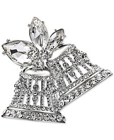 Silver-Tone Crystal Bell Pin, Created for Macy's