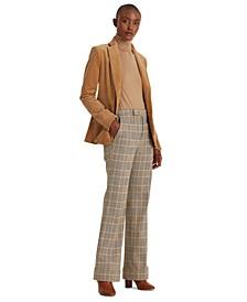 Cotton-Wool Wide-Leg Pants