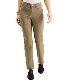 Petite Natural Straight-Leg Jeans, in Petite & Petite Short, Created for Macy's