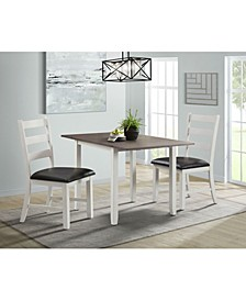 Tuttle 3 Piece Drop Leaf Dining Set