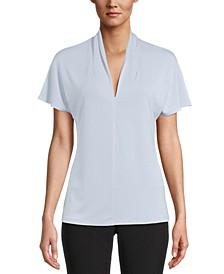 V-Neck Flutter-Sleeve Top, Created For Macy's
