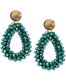 Gold-Tone Beaded Open Drop Earrings, Created for Macy's