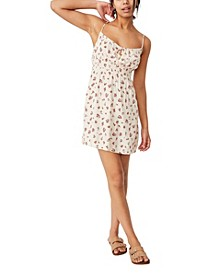 Woven Elsie Strappy Mini Dress