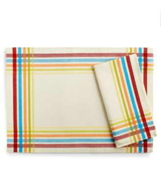 Fiesta Table Linens, Set Of 4 Classic Plaid Napkins