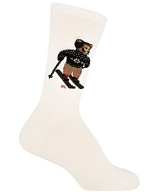 Women's Ski Bear Crew Socks