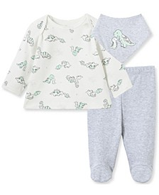 Little  Me Baby Boy Dino Set with Bib