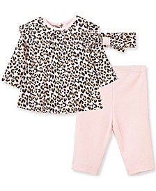 Litte Me Baby Girl Leopard Tunic Set and Headband