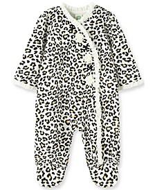 Little  Me Baby Girl  Leopard Footie