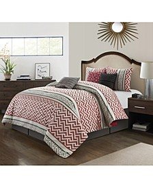 America Vitorio 7 Piece Comforter Set, Queen