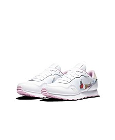 Big Girls MD Valiant Floral Swoosh Casual Sneakers from Finish Line