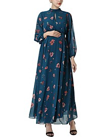 Finley Maternity Floral Print Maxi Dress