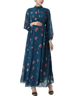 kimi + kai Finley Maternity Floral Print Maxi Dress