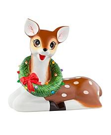 "22"" Lit Nostalgic Ceramic Figure- Reindeer"