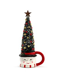 Lit Mug with Sisal Tree- Snowman