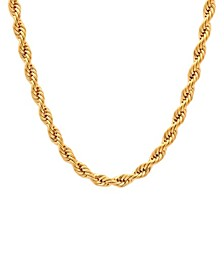 Men's Rope Link Chain Necklace in Stainless Steel