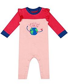 Earth Organic Baby Girl 1-Piece Maya Coverall