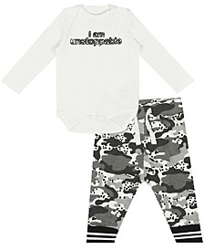 Earth Organic Baby Boy 2-Piece Eric Pant Set