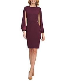 Cape-Sleeve Sheath Dress