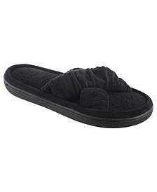 Women's Microterry Ruched Saffron X-Slide slipper