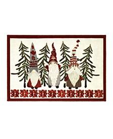 """Christmas Gnomes 20"""" x 30"""" Rug"""