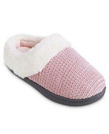Women's Striped Chenille Ann Hoodback Slippers
