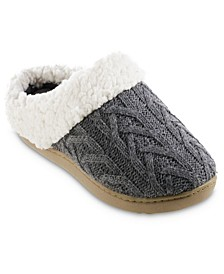 Women's Cable Knit Alexis Hoodback Slippers