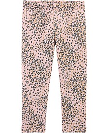 Toddler Girl Leopard Cozy Fleece Leggings