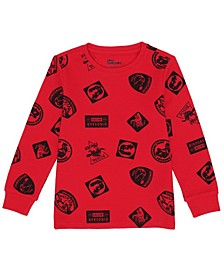 Toddler Boys Long Sleeve All Over Print Graphic Thermal