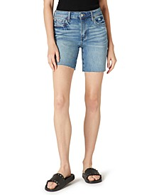 Melbourne Ripped Denim Bermuda Shorts