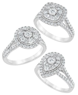 Diamond Multi-Layer Halo Engagement Ring (1 ct. t.w.) in 14k White Gold