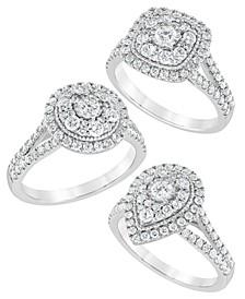 DiamondMulti-Layer Halo Engagement Ring (1 ct. t.w.) in 14K White Gold