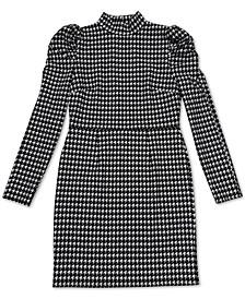 Puffed Sleeve Keyhole Dress, Created for Macy's
