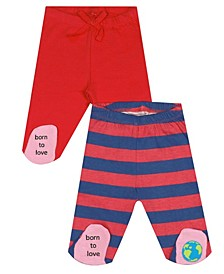 Earth Organic Baby Girl 2-Piece Leah Footed Legging Set