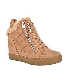 Women's Daily Quilted High Top Sneakers
