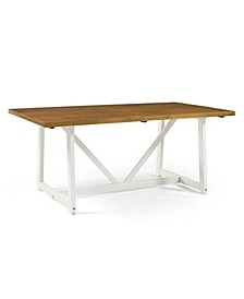 "72"" Solid Wood Trestle Dining Table"