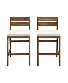 Acacia Wood Counter Stools, 2 pack