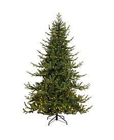 Swedish Fir Artificial Christmas Tree with 500 Warm LED Lights and 1291 Bendable Branches