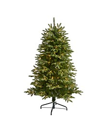 Snowed Grand Teton Artificial Christmas Tree with 150 Clear Lights and 462 Bendable Branches