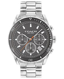 Men's Preston Chronograph Stainless Steel Bracelet Watch 44mm