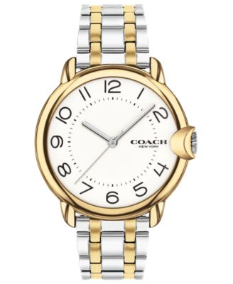 코치 여성 손목 시계 COACH Womens Arden Two-Tone Stainless Steel Bracelet Watch 36mm,Silver