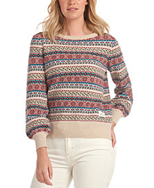 Barbour Laura Ashley Poplars Printed Knit Sweater
