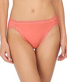 Bliss Lace-Trim Cotton French-Cut Brief Underwear 152058