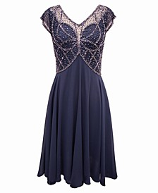 Embellished Chiffon Dress