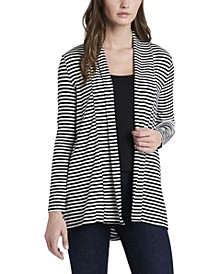 Women's Open-Front High-Low Cardigan