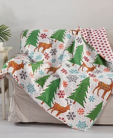 Tinsel Reversible Quilted Throw
