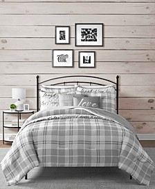 Gingham 8-Pc. Reversible Full/Queen Comforter and Coverlet Set